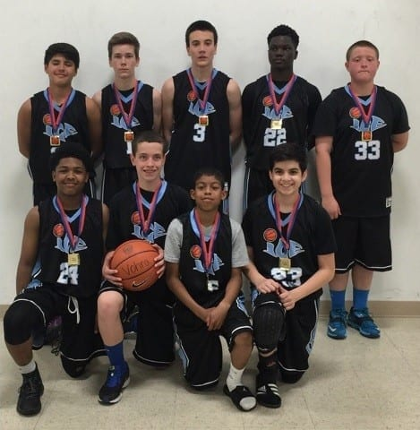 8th Grade Blue - Champions of Play Hard Hoops Superstar Challenge
