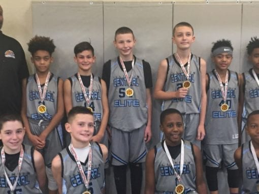 5th Grade Grey – Champions in 6th-7th Grade Division Of Play Hard Hoops Holiday Hoopfest