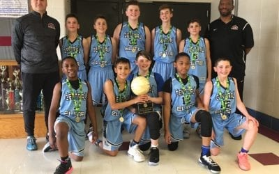 6th Grade Grey – Back to Back Central AAU District State Champions