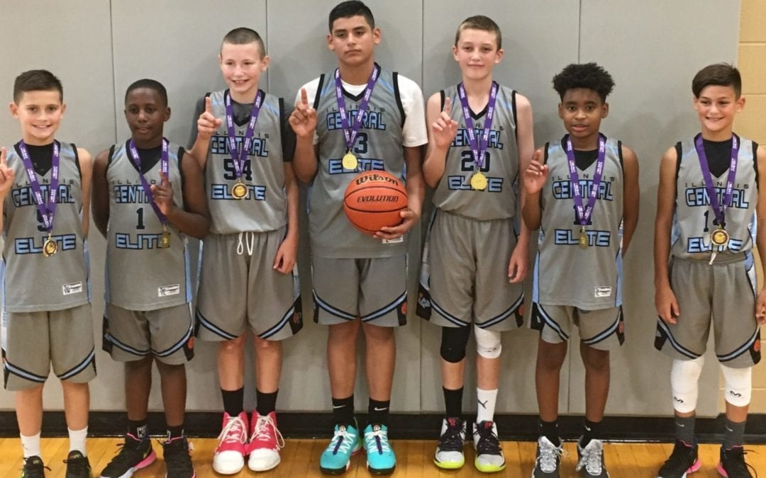 6th Grade Grey Champions Of 7th Grade Division in the USA One Day Shootout