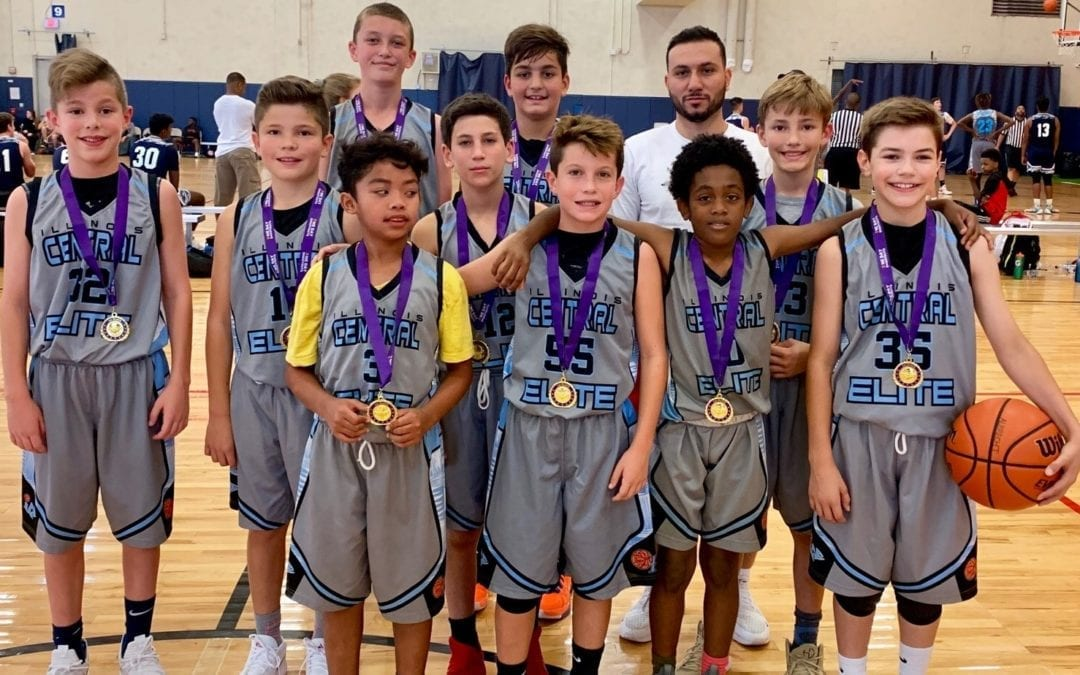 6th Grade White Champions in 6th 7th Grade Division Of The Back To School One Day Shootout