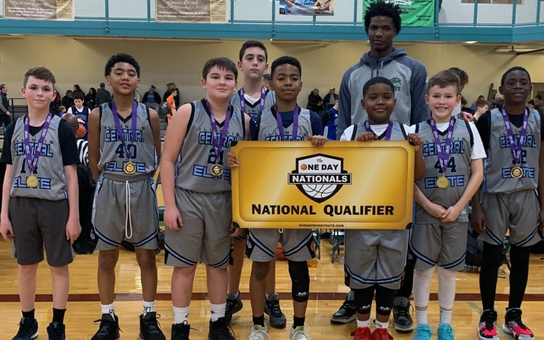 7th Grade Carolina Blue Champions in Holiday One Day Shootout