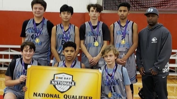 8th Grade Grey Champions in Holiday One Day Shootout & One Day Shootout National Qualifier