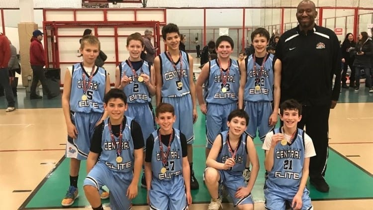 6th Grade Carolina Blue Team Champions in Go-Live Shootout