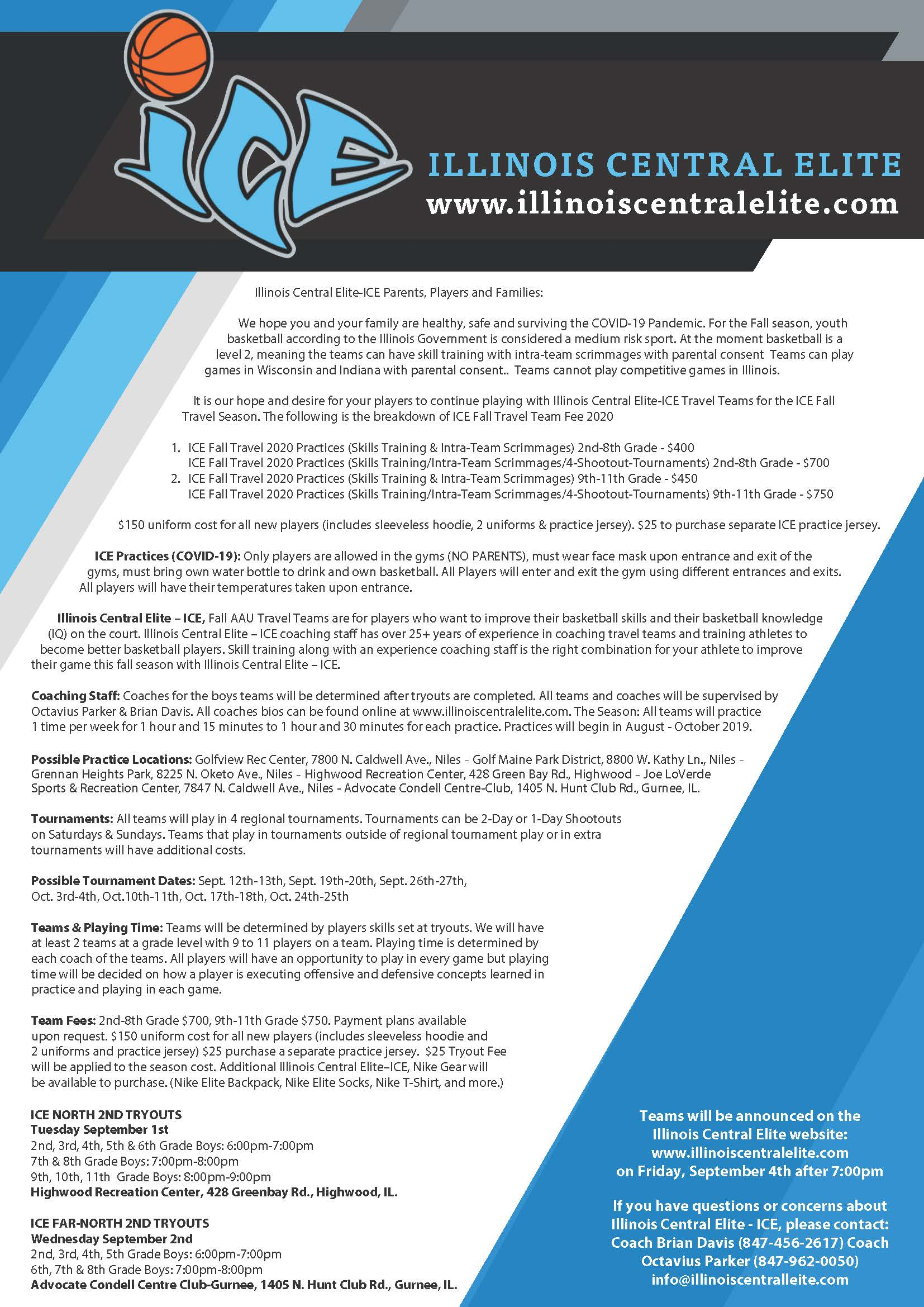 2020 Fall Tryouts