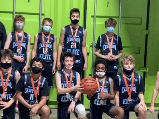 7th Grade Carolina Blue – Champions in 7th/8th Grade Division in All Out All Game One Day Shootout