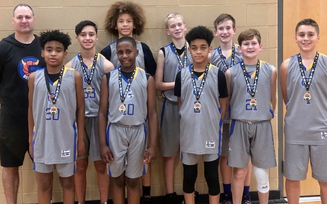 7th Grade Grey Champions in Play Hard Hoops Holiday Hoopfest