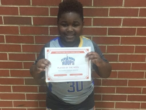 Kevyn Nixon – 3rd Grade – PHH Feeder League Player Of The Week Saturday, January 18th