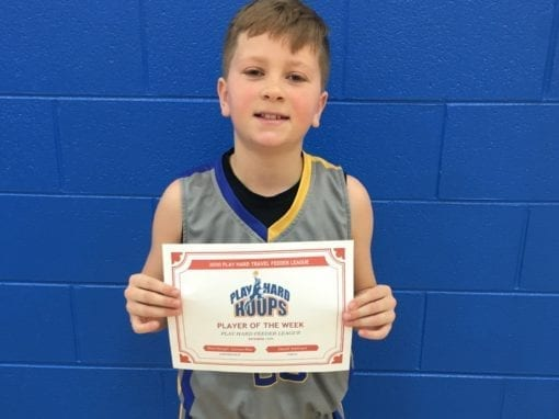 Reed Dangel – 5th Grade – PHH Feeder League Player Of The Week Saturday, February 22nd