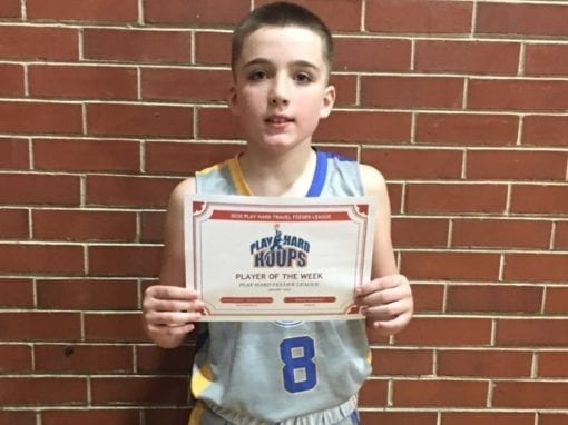 Travis Martin – 5th Grade – PHH Feeder League Player Of The Week Saturday, January 18th