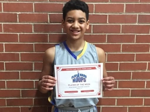 Xavier Vinson – 6th Grade White – PHH Feeder League Player Of The Week Saturday, February 8th