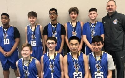 8th Grade Blue – Champions of Deerfield Jr. Warriors Feeder Shootout