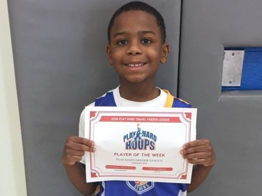 Jaden Johnson – 3rd Grade – PHH Feeder League Player Of The Week Saturday, February 8th